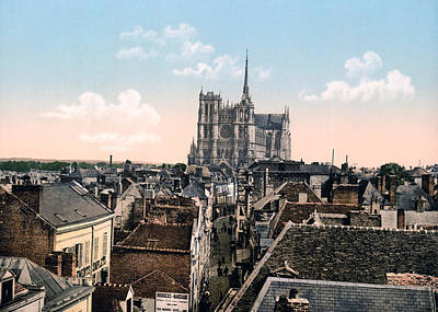 Amiens Photograph - Amiens - France - View From The Belfrey by International  Images