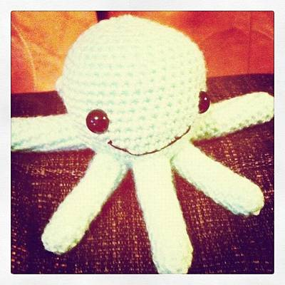 Octopus Wall Art - Photograph - #amigurumi #crochet #octopus #handmade by Emma  Maudsley