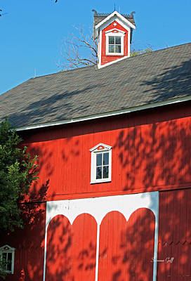 Amish Barn In Shadows Art Print by Suzanne Gaff