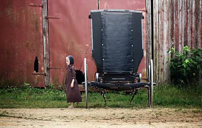 Ethridge Photograph - Amish Child by Steven Michael