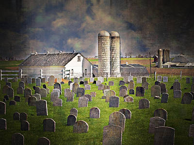 Amish Grave Yard Art Print by Kathy Jennings