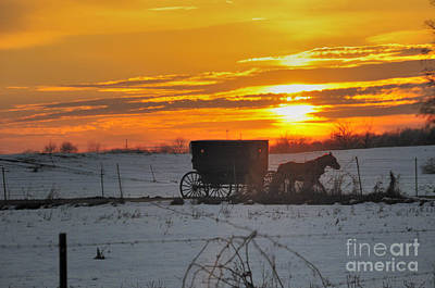 Amish Photograph - Amish Sunset by David Arment
