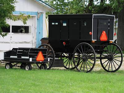 Amish Wagon And Buggy Original by Dennis Pintoski