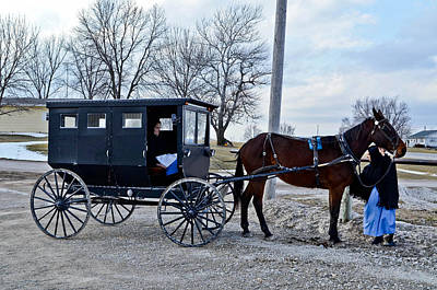 Amish Women Art Print by Brenda Becker
