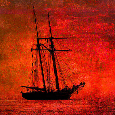 Photograph - Amistad On Red by Fred LeBlanc