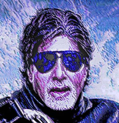 Amitabh Painting - Amitabh Bachchan - Hero Of All Times by Piety Dsilva