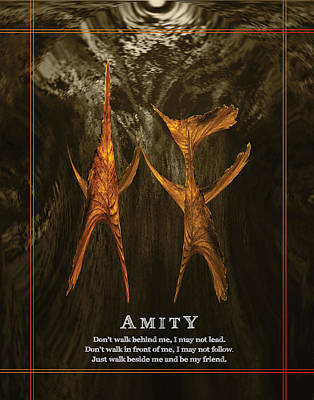 William Penn Digital Art - Amity - Inspirational by Artful Whiz