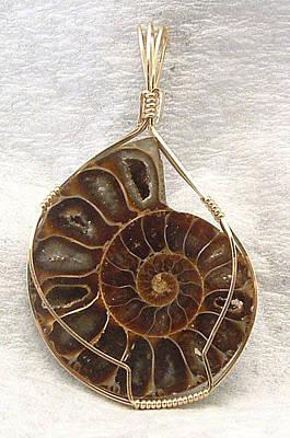 Ammolite Jewelry - Ammonite Pendant by Linda Ray