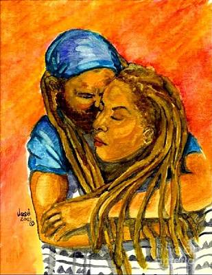 Painting - Amour by Jose Breaux