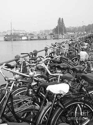 Amsterdam Bikes Print by Erica Ross