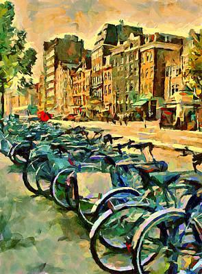 Amsterdam Bikes Art Print