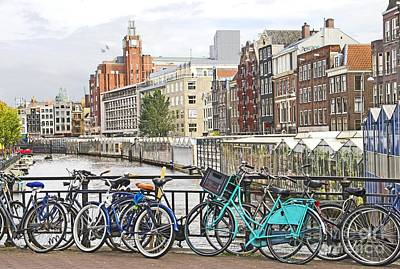 Amsterdam Canal And Bikes Art Print by Giancarlo Liguori
