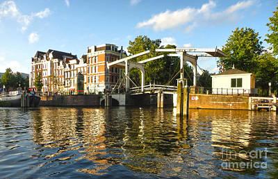 Amsterdam Canal Drawbridge - 03 Art Print by Gregory Dyer