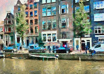 Amsterdam Digital Art - Amsterdam Canals by Yury Malkov