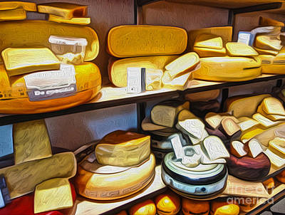 Amsterdam Cheese Shop Art Print by Gregory Dyer