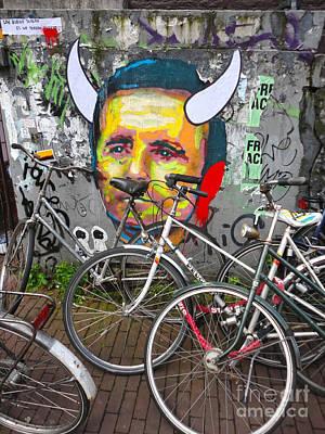 Amsterdam Devil Graffiti Art Print by Gregory Dyer