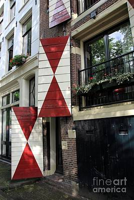 Amsterdam House Facade Art Print by Sophie Vigneault