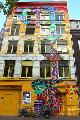 Amsterdam Snake Graffiti Mural Art Print by Gregory Dyer
