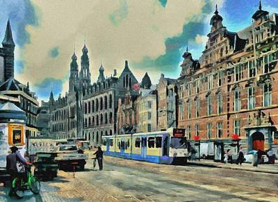 Amsterdam Digital Art - Amsterdam Tour  Streets 1 by Yury Malkov