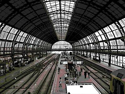 Photograph - Amsterdam Train Station by George Pedro