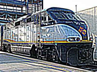Amtrak Locomotive Study 1 Art Print by Samuel Sheats