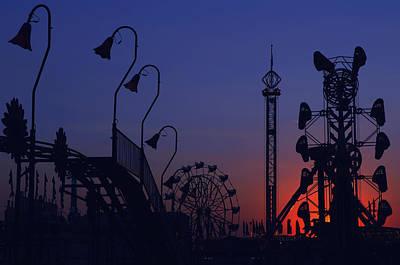 Amusement Ride Silhouette Art Print by Michael Gass