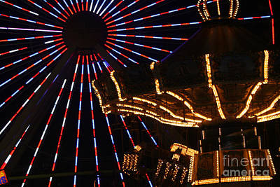 Photograph - Amusements In Lights by Susan Stevenson