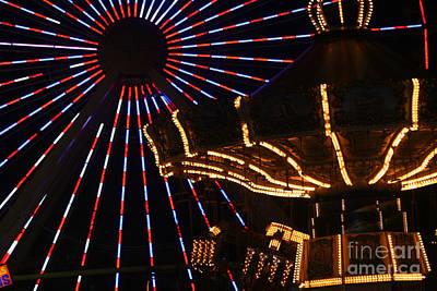 Photograph - Amusements In Lights by Susan Stevenson