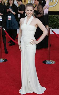 Amy Adams Wearing A Herve Leroux Gown Art Print