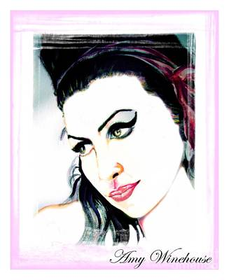 Bono Painting - Amy Winehouse by Liam O Conaire