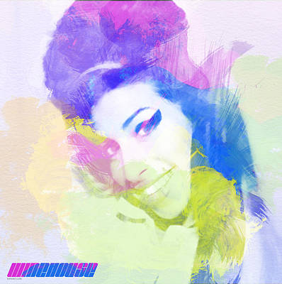Pastels Digital Art - Amy Winehouse by Naxart Studio
