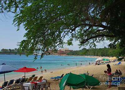 Photograph - An Active Sosua Beach In Dr by Heather Kirk