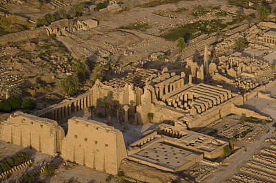 An Aerial View Of The Large Temple Print by Michael Poliza