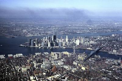 An Aerial View Of The Twin Towers Art Print by Rex A. Stucky