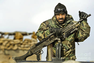 Afghan National Army Photograph - An Afghan National Army Soldier by Stocktrek Images