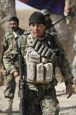 An Afghan Soldier Provides Security Art Print by Stocktrek Images