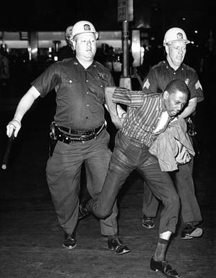 An African American Who Police Accused Print by Everett