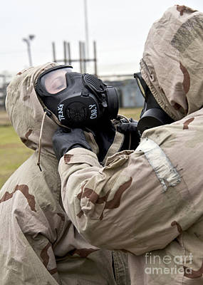 Obscured Face Photograph - An Airman Assists His Wingman During An by Stocktrek Images