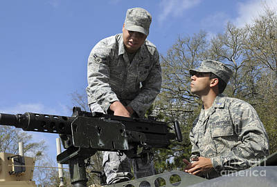 An Airman Instructs A Cadet On How Art Print by Stocktrek Images