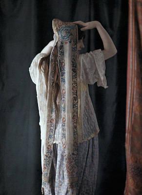 An Algerian Woman Models A Headdress Art Print