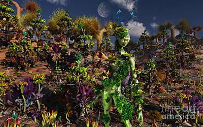 An Alien Being Blending Art Print by Mark Stevenson