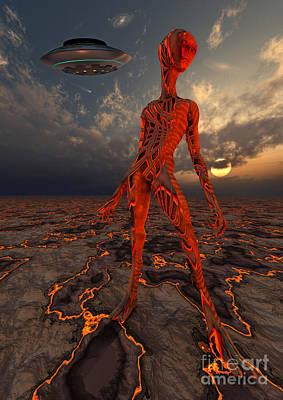 World Changing Digital Art - An Alien World Where Its Native by Mark Stevenson