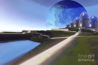 Digital Art - An Alien World With Strange by Corey Ford