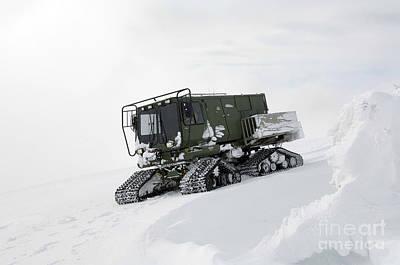 An All-terrain Vehicle Gets Stuck Art Print