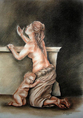 Drawing - An Allegory Of Poverty by Nathalie Chavieve
