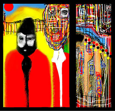 Painting - An American Gothic Fable by Rc Rcd