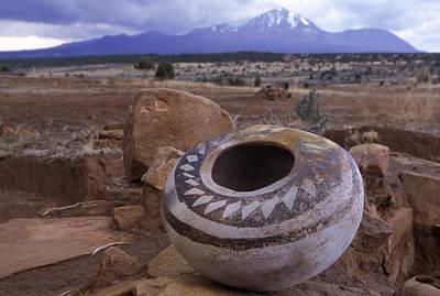 An Ancient Pottery Seed Jar Art Print