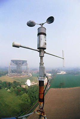 Anemometer Photograph - An Anemometer by David Parker