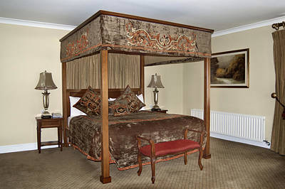 An Antique Style Four Poster Bed Art Print by Will Burwell