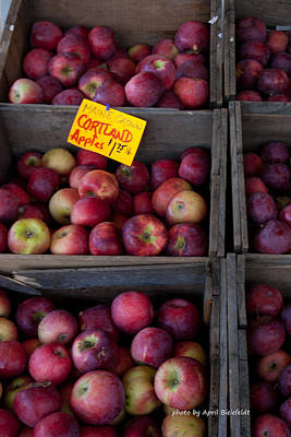 Farmstand Photograph - An Apple A Day by April Bielefeldt